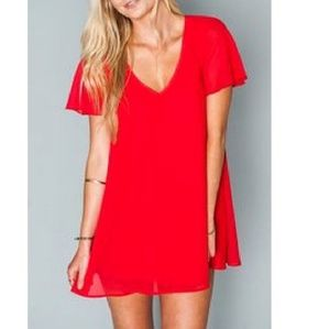 🆕️ Show Me Your Mumu Red Kylie Mini Dress Sz Lg